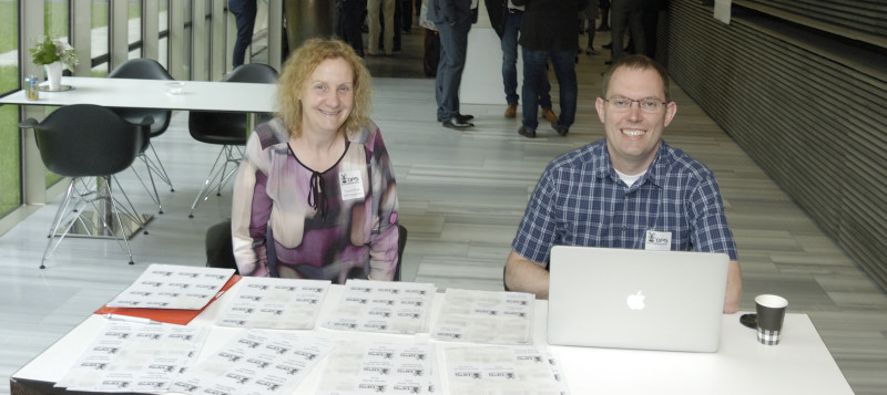 Tom Bradley and Tracey Flynn (DPS Board) registering attendees